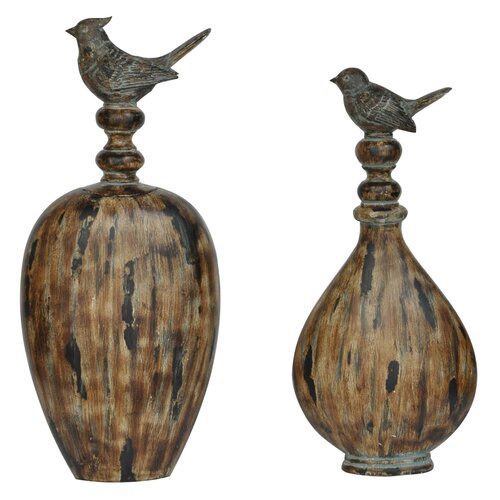 Crestview Collection 2 Piece Madison Decorative Urn Set