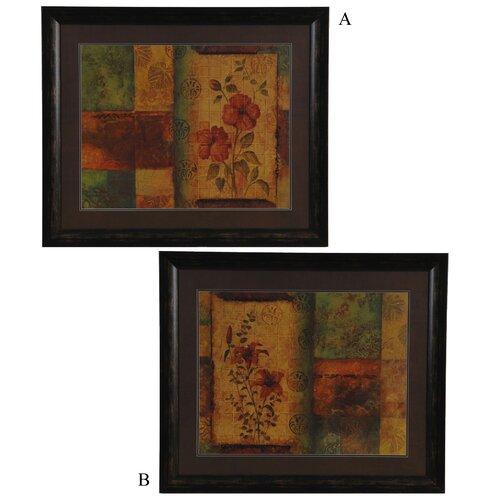 Crestview Collection Peyton-Tropical Paradise 2 Piece Painting Print Set
