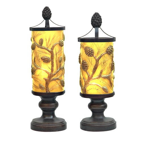 Crestview Collection Autumn's 1 Light Table Lamp (Set of 2)