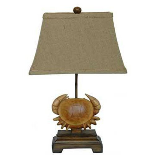 """Crestview Collection 22"""" H Table Lamp with Bell Shade"""