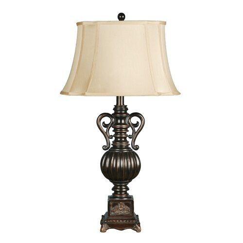 Crestview Collection Moira 1 Light Table Lamp with Bell Shade