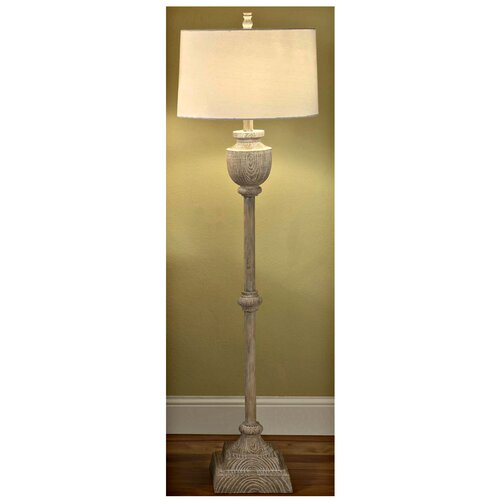 Crestview Collection Avalon Carved 1 Light Floor Lamp
