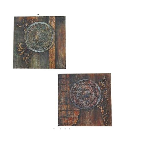 Lionidas 2 Peice Graphic Art on Canvas Set (Set of 2)