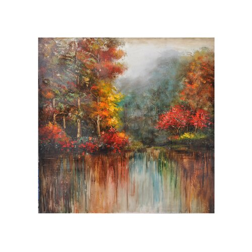 Crestview Collection Remsen Painting Print on Canvas