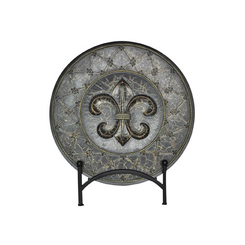 Crestview Collection French Fleur Charger