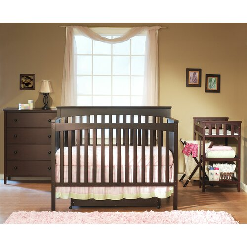 Petite Paradise 4-in-1 Convertible Crib Set