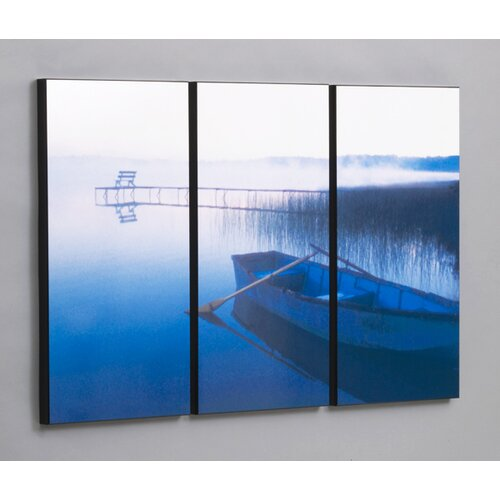 Wilson Studios Row Boat in Tranquility 3 Piece Framed Photographic Print Set
