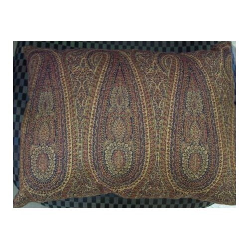 Little Tear Drop Paisley Wool Decorative Boudoir Pillow