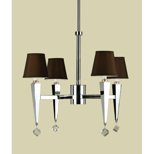 AF Lighting Margo 4 Light Chandelier