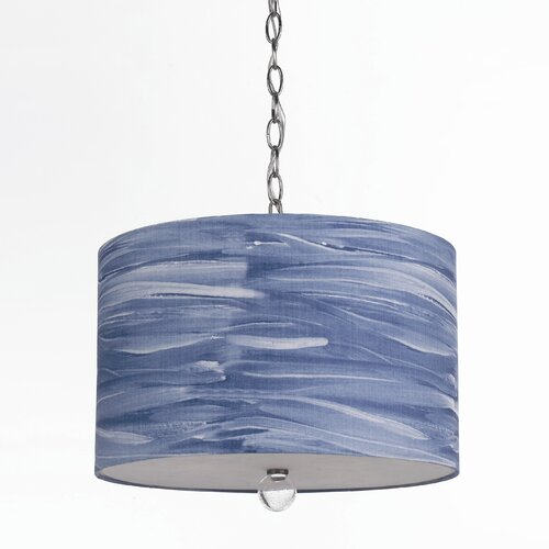 AF Lighting Horizons Water Color Coast 3 Light Drum Pendant