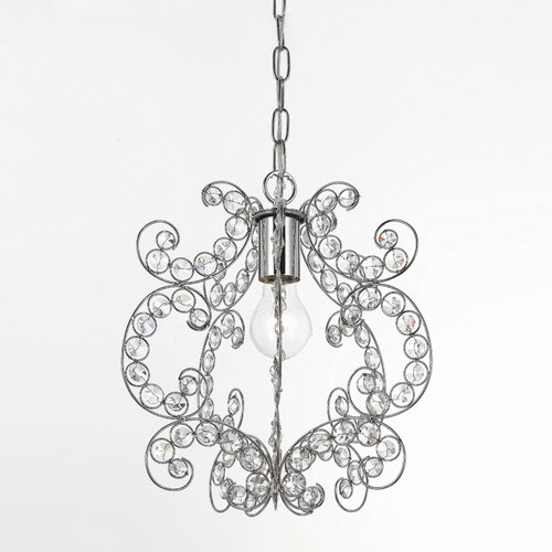 AF Lighting Elements Rapture 1 Light Foyer Pendant