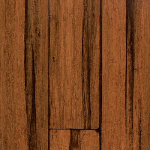 """US Floors Natural Bamboo Expressions 5-1/4"""" Solid Locking Strand Woven Bamboo Flooring in Handscraped Antique Black"""