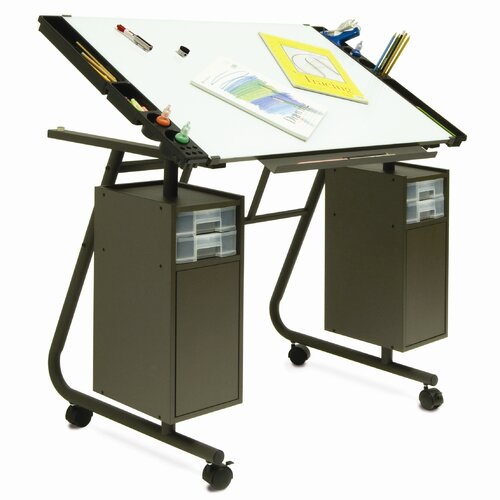 "Studio Designs Cascade Magnetic 40.5"" W x 25.75"" D Drafting Table"