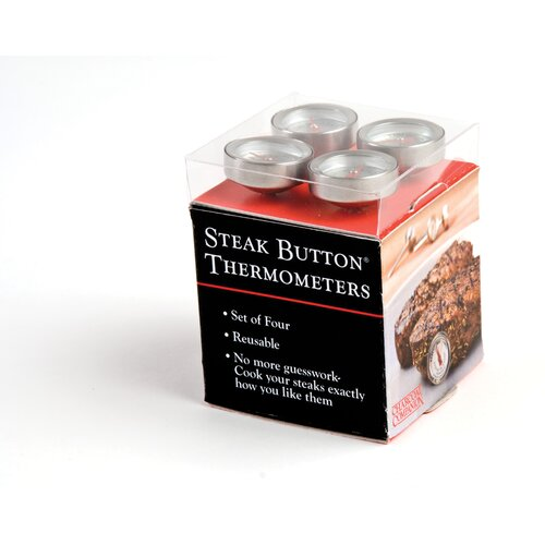 Charcoal Companion Reusable Steak Button® (Set of 4)