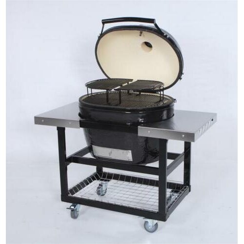 Stainless Steel Side Table for Oval Junior Grill