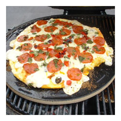Pizza Baking Stone for Extra Large Oval Grill or Kamado Grill