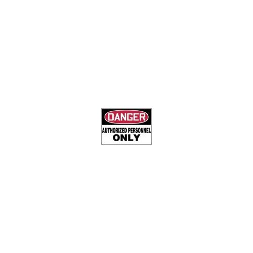 "Accuform Manufacturing Inc X 10"" Red, Black And White Aluminum Value™ Admittance Sign Danger Authorized Personnel Only"