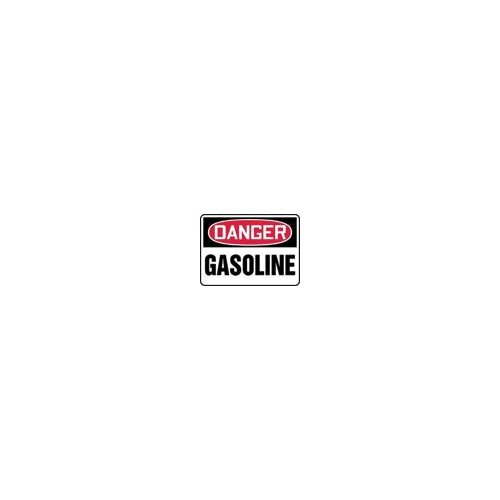 """Accuform Manufacturing Inc X 10"""" Red, Black And White Adhesive Vinyl Value™ Chemical Identification Sign Danger Gasoline"""