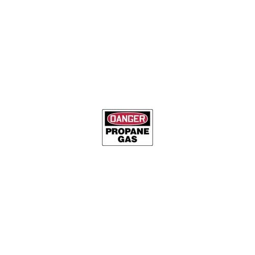 "Accuform Manufacturing Inc X 10"" Red, Black And White Adhesive Vinyl Value™ Chemical Identification Sign Danger Propane Gas"