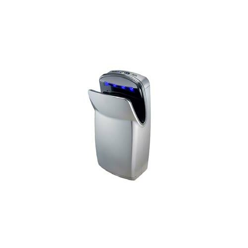 Surface-Mounted Sensor-Operated Hand Dryer in Silver