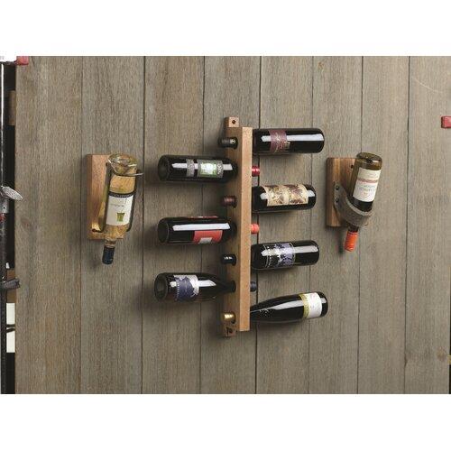 J.K. Adams 7 Bottle Wall Mounted Wine Tree
