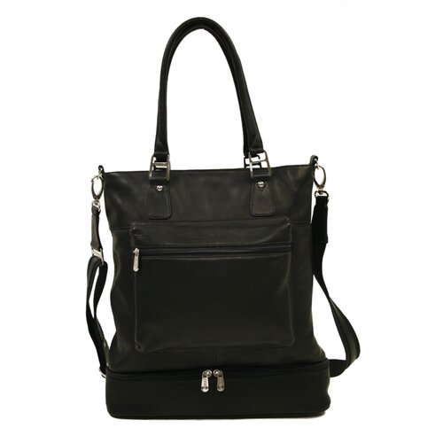 Piel Leather Fashion Avenue False Bottom Tote