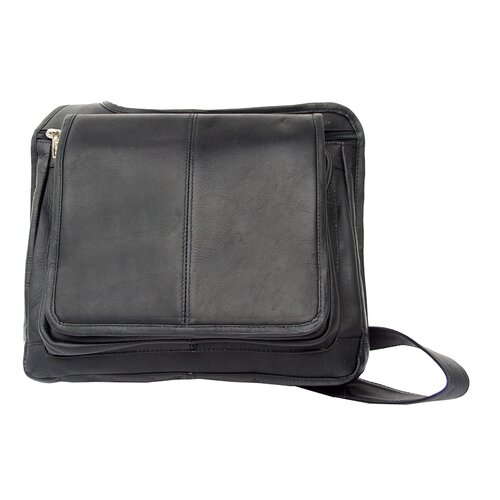 Fashion Avenue Slim Line Flap-Over Ladies Cross-Body Bag