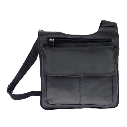 Piel Leather Fashion Avenue Slim Line Mail Bag