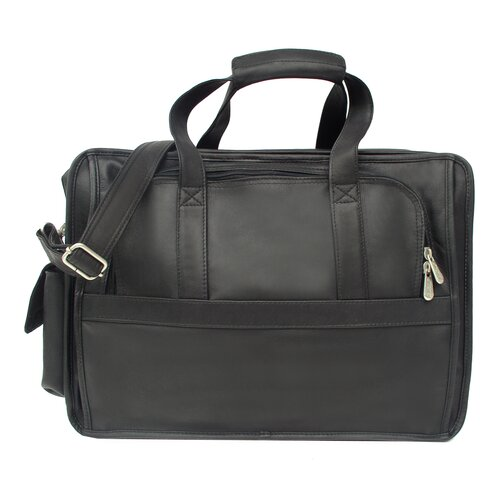 Piel Leather Entrepeneur Half-Moon Portfolio Laptop Briefcase