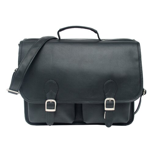Piel Leather Executive Portfolio Laptop Briefcase