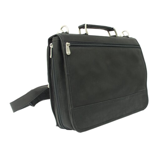 Piel Leather Two-Section Portfolio Briefcase