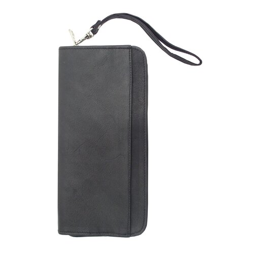 Piel Leather Traveler Zippered Passport / Ticket Holder