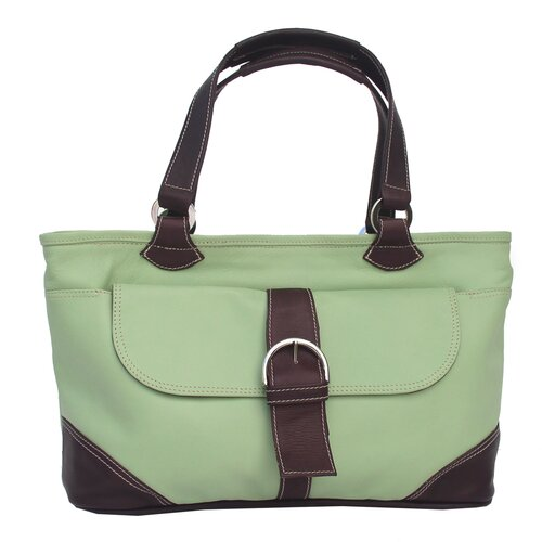 Piel Leather Pastel Leather Tote