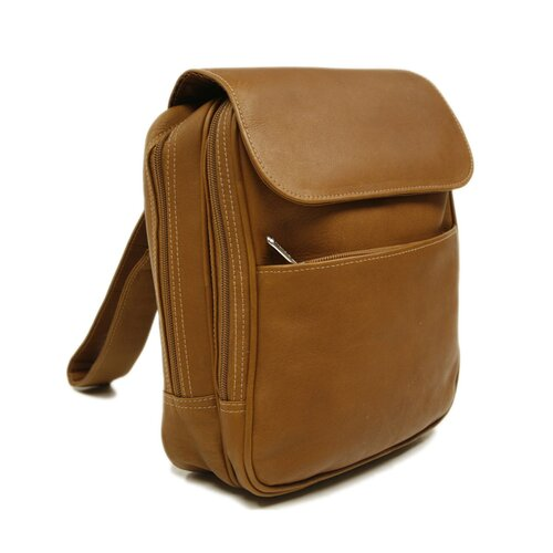 Entrepreneur Flap-Over Mini Backpack in Saddle
