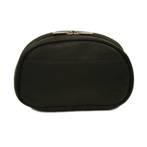 Piel Leather Half-Moon Cosmetic Bag