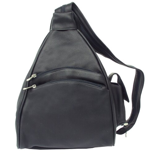 Piel Leather Fashion Avenue Two Pocket Sling Backpack