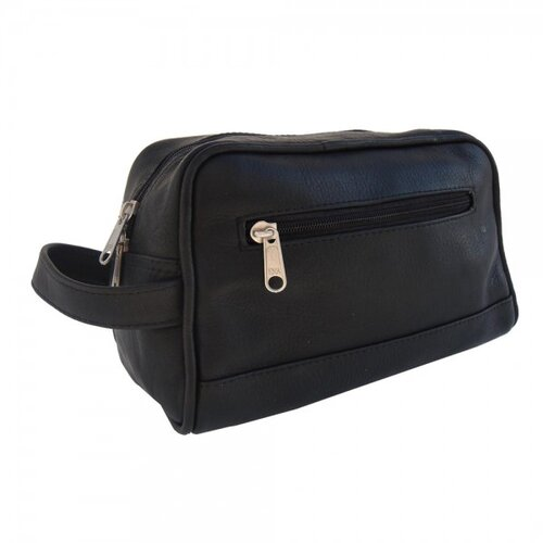 Piel Leather Top-Zip Toiletry Kit