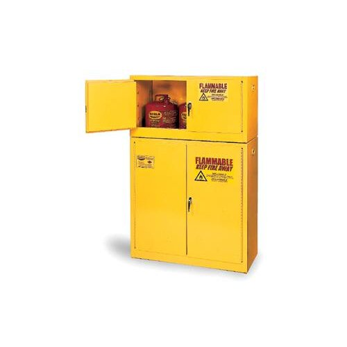 """Eagle Manufacturing Company 65"""" H x 43"""" W x 34"""" D 90 Gallon Flammable Safety Storage Cabinet"""