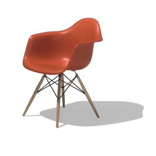 Herman Miller ® Eames DAW - Molded Plastic Armchair with Dowel-Leg Base