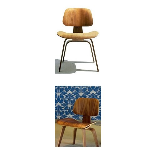 Herman Miller ® Eames DCW - Molded Plywood Dining Chair with Wood Legs