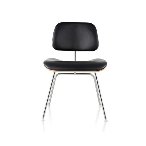 Herman Miller ® Eames Molded Plywood Upholstered Dining Chair with Metal Base
