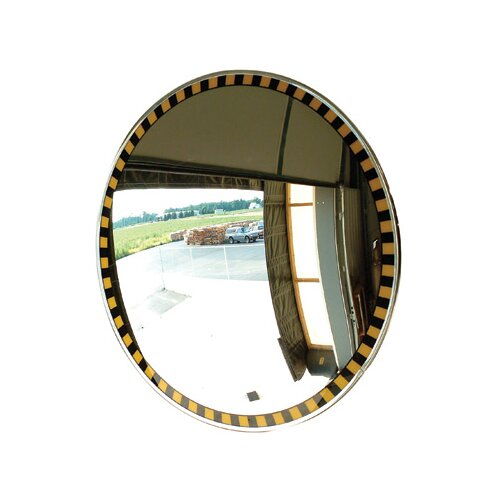 Acrylic Indoor Convex Security Mirror With Safety Border