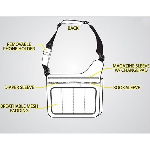 Diaper Dude Diaper Dude Flap Messenger II Diaper Bag