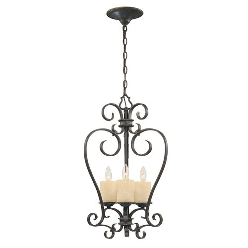 Stafford Spring 3 Light Foyer Pendant