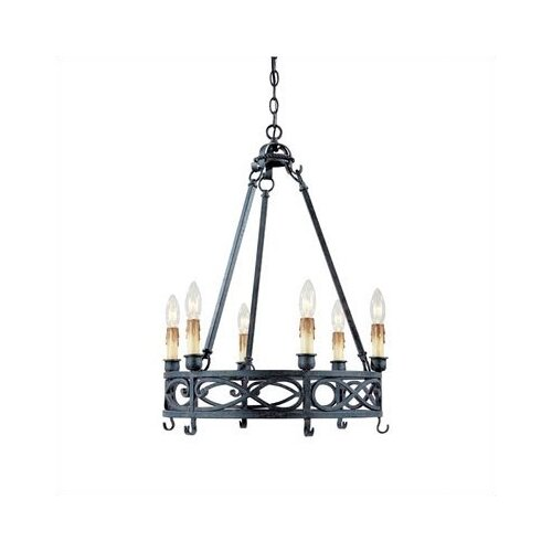 World Imports Iron Works 6 Light  Chandelier