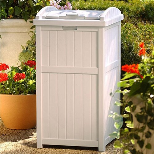 Suncast 33 Gallon Outdoor Trash Container Hideaway