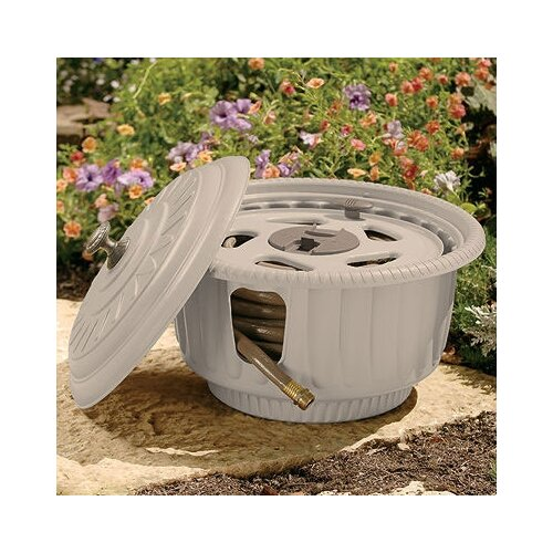 Suncast Decorative Hose Reel Pot