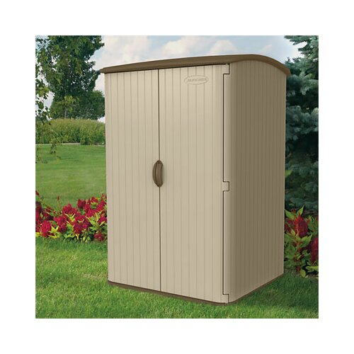 """Suncast 4'8"""" W x 4'0.75"""" D Resin Tool Shed"""