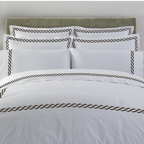 Letto Cable Duvet Cover in Chocolate