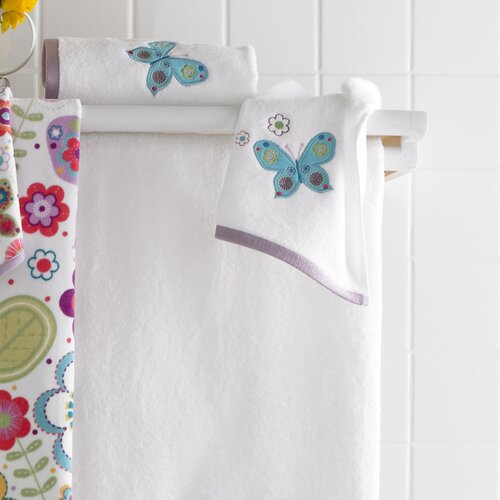 Kassatex Fine Linens Bambini Butterflies Embroidered Bath Towel (Set of 6)